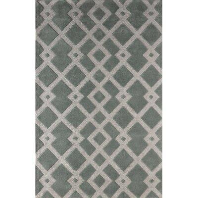 Glenside Hand-Tufted Slate Area Rug Rug Size: 5 x 8