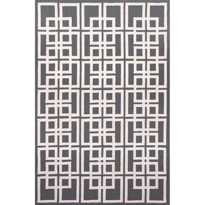 Gilleasbuig Charcoal Oriental Square Area Rug Rug Size: 36 x 56