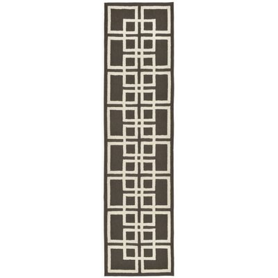 Gilleasbuig Charcoal Oriental Square Area Rug Rug Size: Runner 2' x 8'