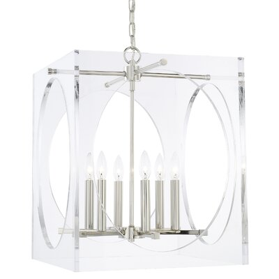 Hackmore 6-Light Crystal Chandelier