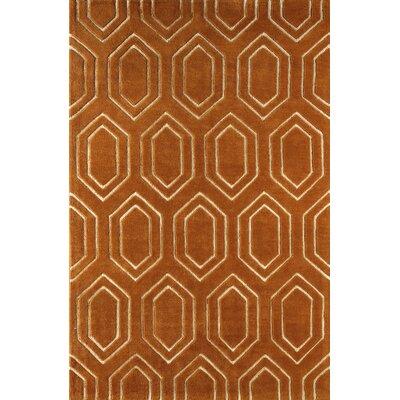 Graceland Hand-Tufted Sorrel/Ivory Area Rug Rug Size: 6 x 9