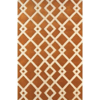 Glenside Hand-Tufted Gold/Ivory Area Rug Rug Size: 5 x 8