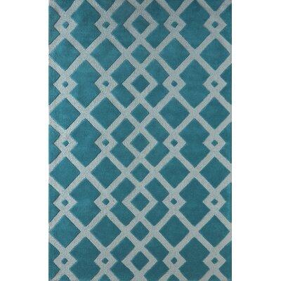 Glenside Hand-Tufted Blue Area Rug Rug Size: 8 x 10
