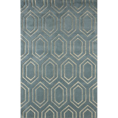 Graceland Hand-Tufted Blue/Ivory Area Rug Rug Size: 5 x 8