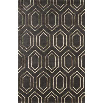 Graceland Hand-Tufted Gray/Ivory Area Rug Rug Size: 8 x 10