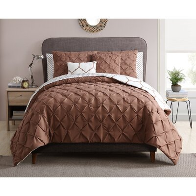 Regina 9  Piece Reversible Comforter Set Size: King