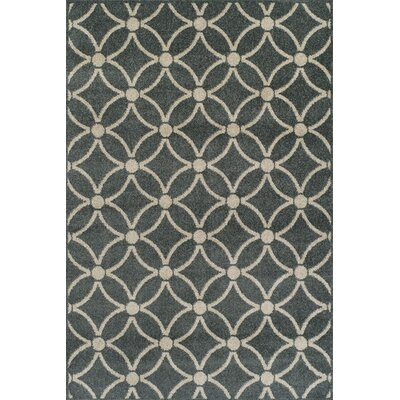 Ritz Cobalt Brown/Tan Area Rug Rug Size: 33 x 51