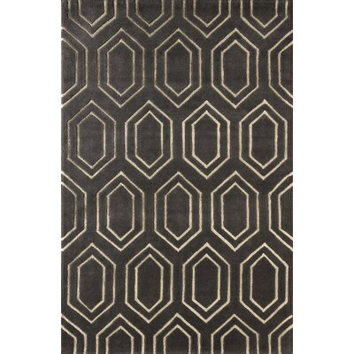 Graceland Hand-Tufted Brown/Ivory Area Rug Rug Size: 5 x 8