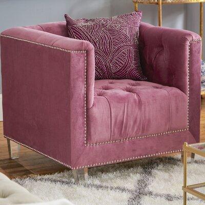 Prue Armchair Upholstery: Plum/Clear