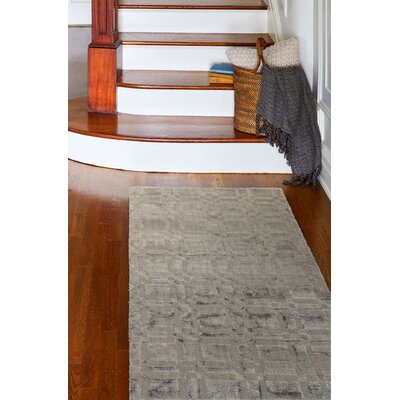 Doyle Graphite Rug Rug Size: Runner 26 x 8