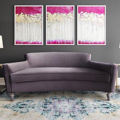 Jarne Velvet Sofa Upholstery: Gray, Finish: Gray