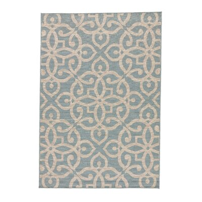 Charlena Teal/Taupe Indoor/Outdoor Area Rug Rug Size: Rectangle 4 x 53