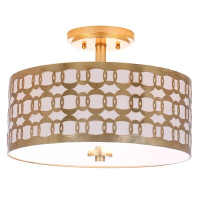 Grandidier 3-Light Semi Flush Mount Finish: Gold