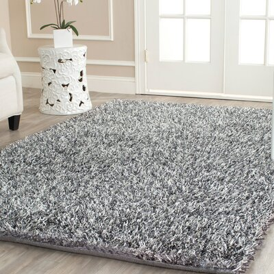 Cheevers Platinum/Ivory Area Rug Rug Size: Round 5