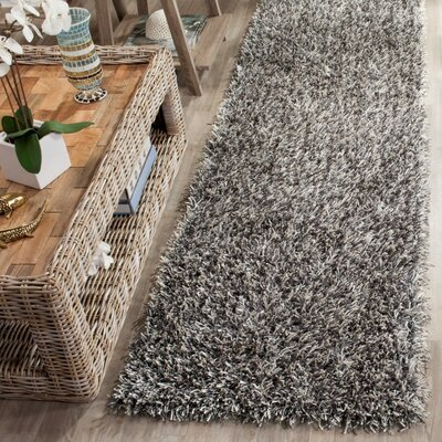 Cheevers Platinum/Ivory Area Rug Rug Size: Runner 23 x 8