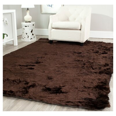 Stellan Flokati Chocolate Outdoor Area Rug Rug Size: 5 X 5 Square
