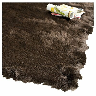 Stellan Flokati Chocolate Outdoor Area Rug Rug Size: Runner 23 x 8