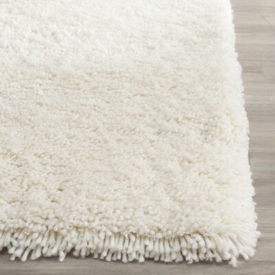 Maya Solid White Area Rug Rug Size: Rectangle 23 x 4