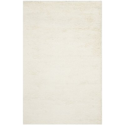 Maya Solid White Area Rug Rug Size: Rectangle 5 x 8