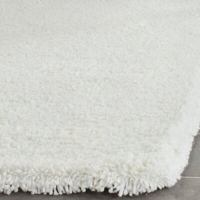 Maya Solid White Area Rug Rug Size: Rectangle 2 x 3