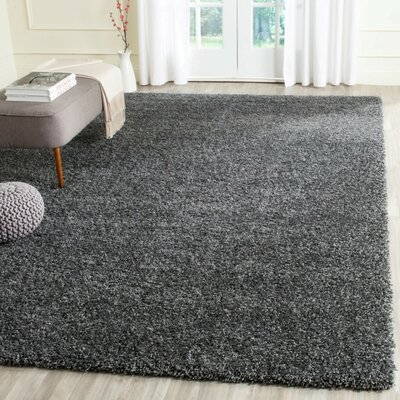 Maya Handmade Dark Gray Area Rug Rug Size: Rectangle 96 x 13