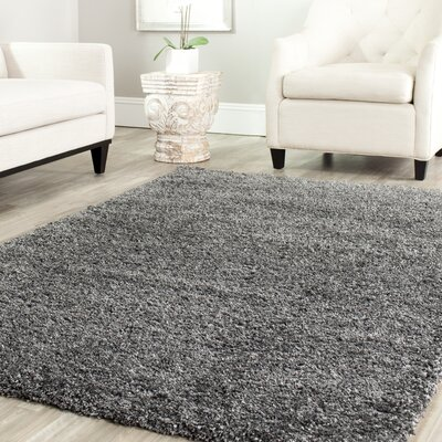 Maya Handmade Dark Gray Area Rug Rug Size: Rectangle 11 x 15