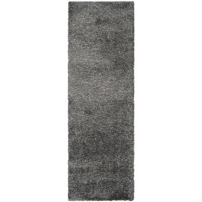 Maya Handmade Dark Gray Area Rug Rug Size: Runner 23 x 11