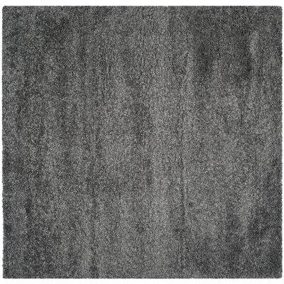 Maya Handmade Dark Gray Area Rug Rug Size: Square 67