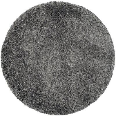 Maya Handmade Dark Gray Area Rug Rug Size: Round 86