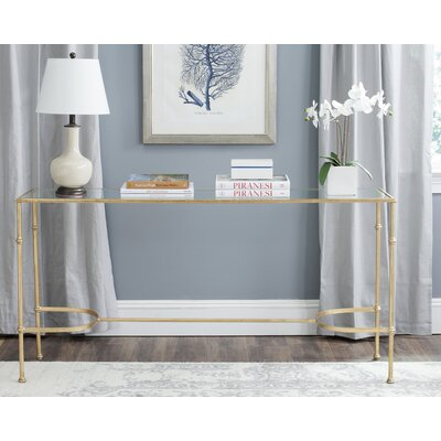 Marcia Glass Top Console Table