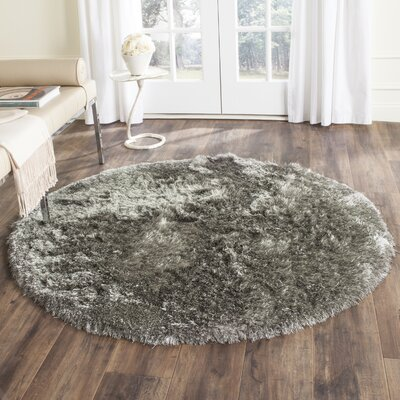 Montpelier Silver Area Rug Rug Size: Round 7