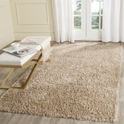 Maya Hand-Tufted/Hand-Hooked Brown Area Rug Rug Size: Rectangle 6 x 9