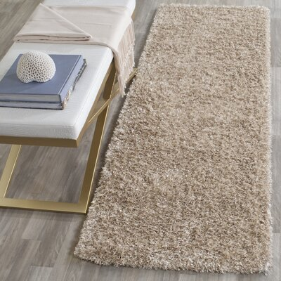Maya Hand-Tufted/Hand-Hooked Brown Area Rug Rug Size: Runner 23 x 7