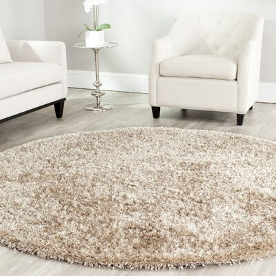 Maya Hand-Tufted/Hand-Hooked Brown Area Rug Rug Size: Round 7