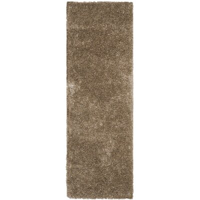 Maya Hand-Tufted/Hand-Hooked Brown Area Rug Rug Size: Runner 23 x 9