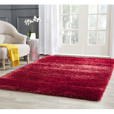Davey Red Rug Rug Size: Rectangle 4 x 6