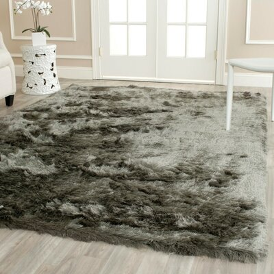Montpelier Hand-Tufted/Hand-Hooked Titanium Area Rug Rug Size: Rectangle 26 x 4