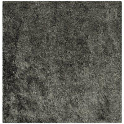 Montpelier Hand-Tufted Titanium Area Rug Rug Size: Square 5
