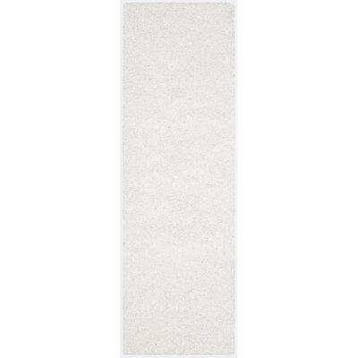 Maya White Area Rug Rug Size: Runner 23 x 8