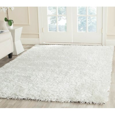 Maya Hand-Tufted/Hand-Hooked Off White Area Rug Rug Size: Rectangle 6 x 9