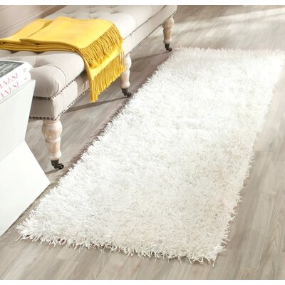 Maya Hand-Tufted/Hand-Hooked Off White Area Rug Rug Size: Runner 23 x 6