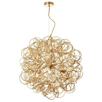 Jennings 8-Light Geometric Pendant Finish: Gold