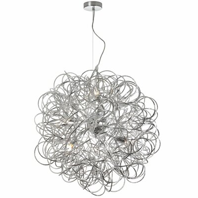 Jennings 8-Light Geometric Pendant Finish: Satin Chrome