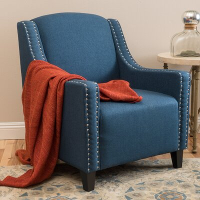 Connolly Armchair Upholstery: Dark Blue