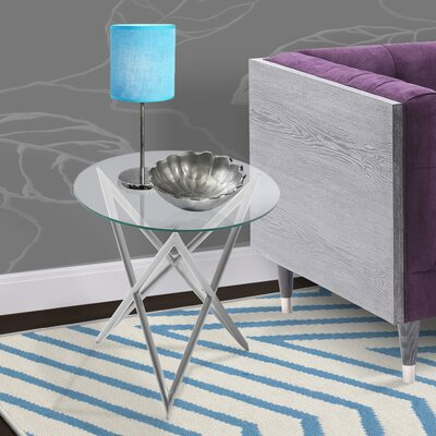 Borkowski End Table Base Finish: Brushed Steel