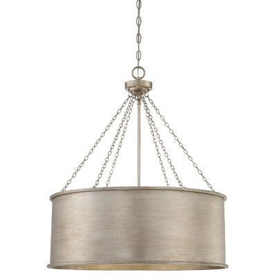 Eastleigh 6-Light Drum Pendant Finish: Silver Patina