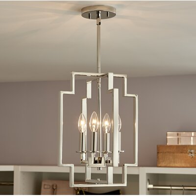 Goffe 4-Light Foyer Pendant Size: 17 H x 12 W x 12 D