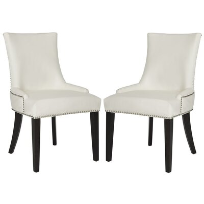 Carraway Upholstered Dining Chair Color: Leather White