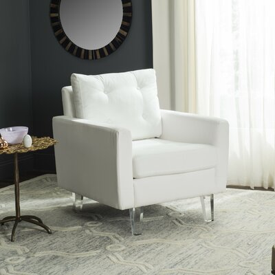 Reed Armchair Upholstery: White/Clear