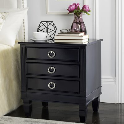 Pierre 3 Drawer Nightstand Color: Navy